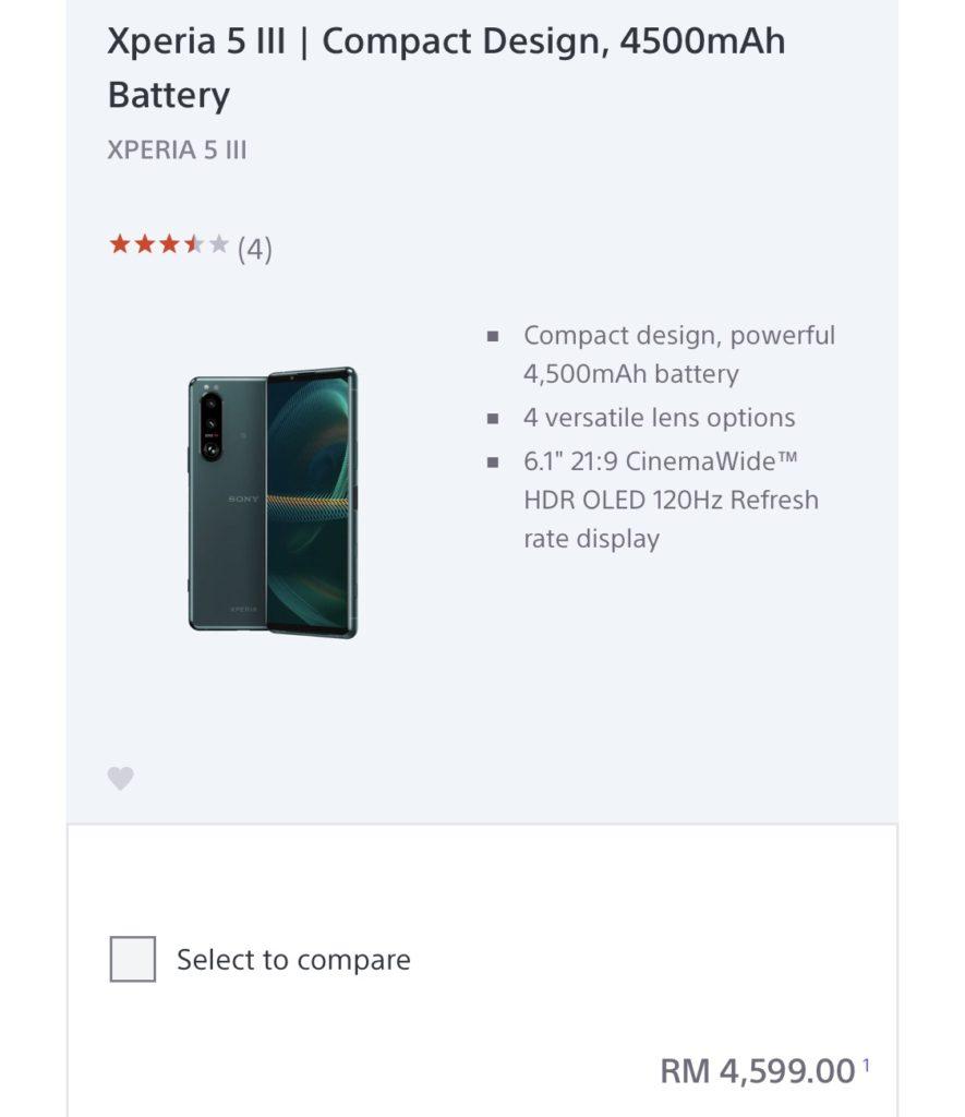 Sony Xperia 1 III akan ditawarkan di Malaysia pada harga RM 5,799 - Xperia 5 III pula RM 4,599 11