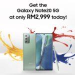Samsung Galaxy Note 20 5G kini ditawarkan pada harga RM 2,999 sahaja
