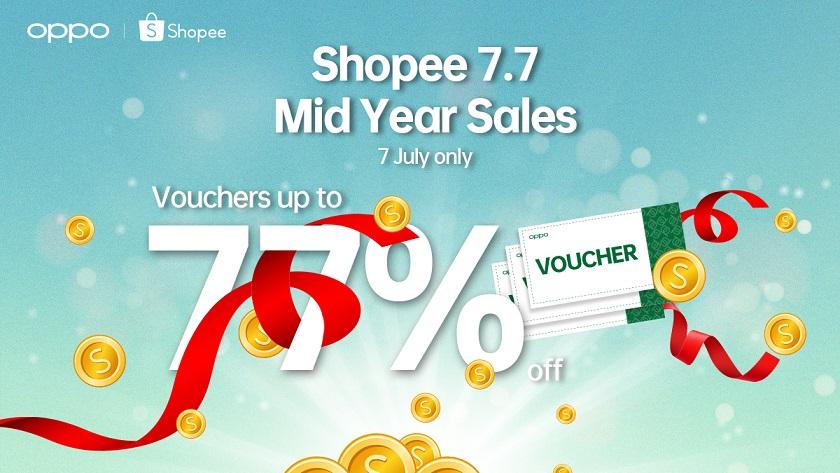 Berikut adalah promosi Oppo 7.7 di Shopee - Beli 1 Percuma 1 bagi Oppo Watch 8