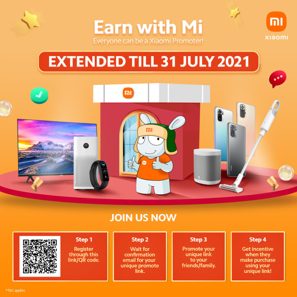 Pendaftaran Program Rujukan Earn With Mi di lanjutkan sehingga 31 Julai 2021 5
