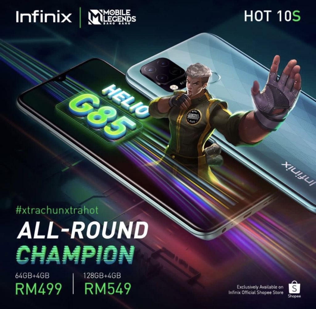 Infinix Hot 10S kini rasmi di Malaysia pada harga dari RM 499 sahaja 19