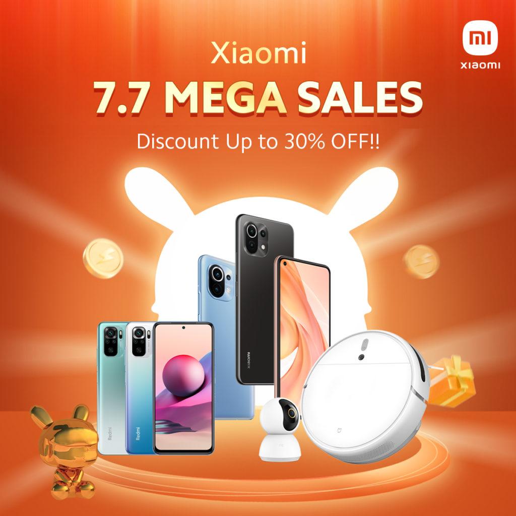 Xiaomi 7.7 Mega Sales akan berlangsung pada 7 Julai - diskaun hebat bagi pelbagai model Xiaomi dan Poco 9
