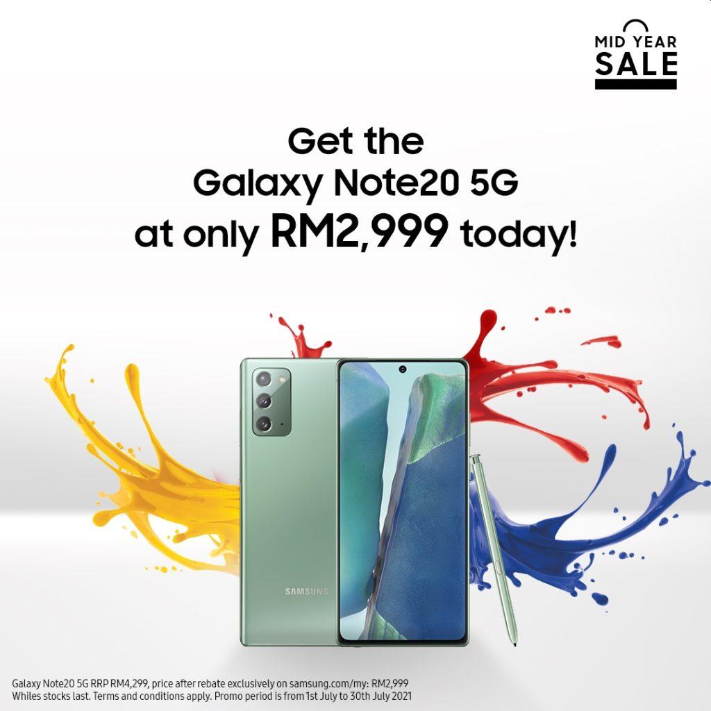 Samsung Galaxy Note 20 5G kini ditawarkan pada harga RM 2,999 sahaja 5