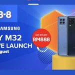 Samsung Galaxy M32 akan ditawarkan di Malaysia mulai 6 Ogos ini di Lazada pada harga promosi RM 888 sahaja
