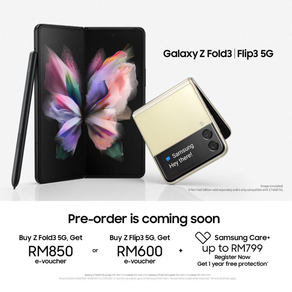 Samsung Galaxy Z Fold3 dan Galaxy Z Flip3 akan dibuka untuk pra-tempahan pada 19 Ogos ini - harga dari RM 3,999 7