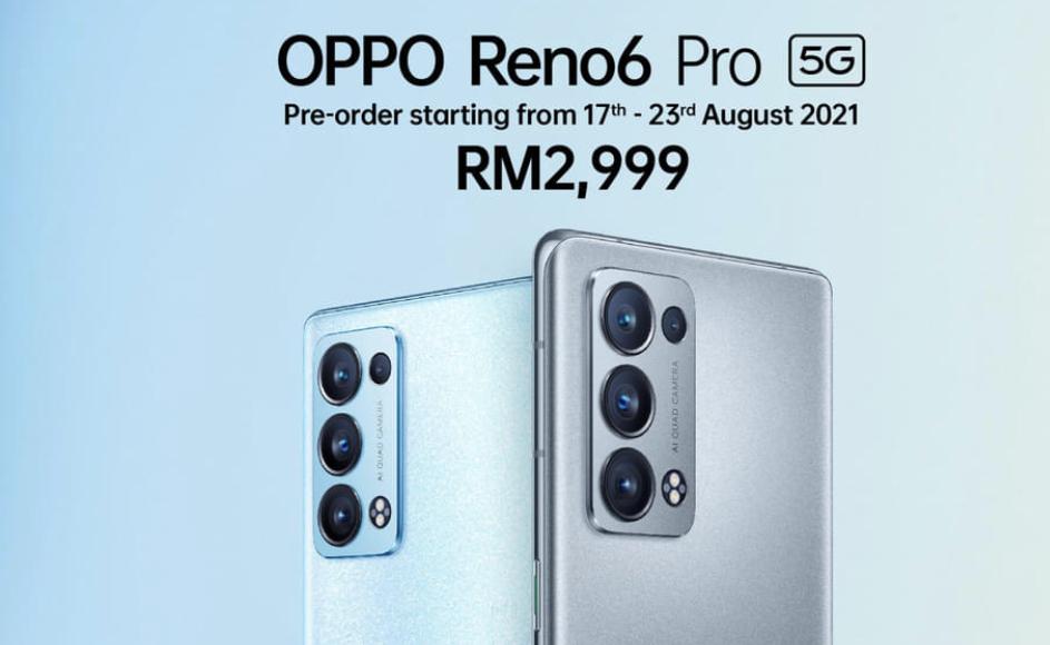 Oppo Reno6 Pro 5G kini rasmi di Malaysia dengan cip Snapdragon 870 - RM 2,999 5