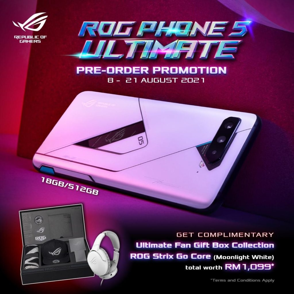 Asus ROG Phone 5 Ultimate Edition akan dibuka untuk pra-tempahan pada 8 Ogos ini - RM 4,999 3