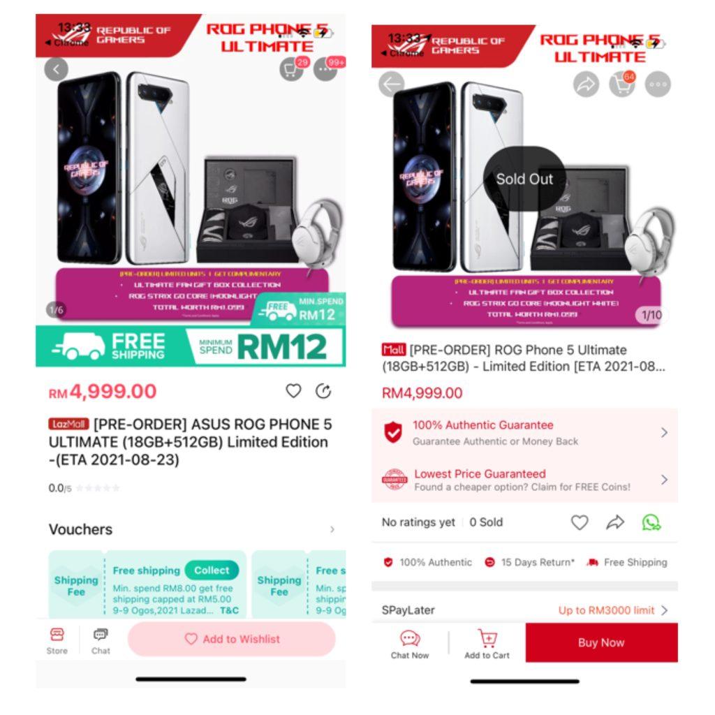 Stok Asus ROG Phone 5 Ultimate Edition habis terjual dalam masa 24 jam selepas pra-tempahan dibuka 6