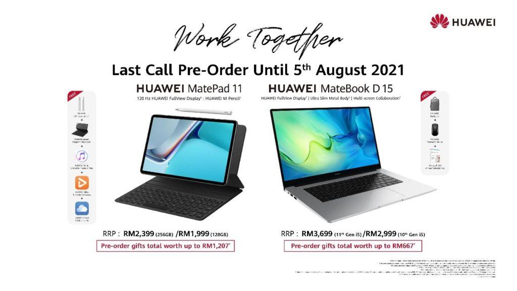 Pra-tempahan HUAWEI MatePad 11 dan komputer riba MateBook Series akan berakhir pada 5 Ogos ini 7