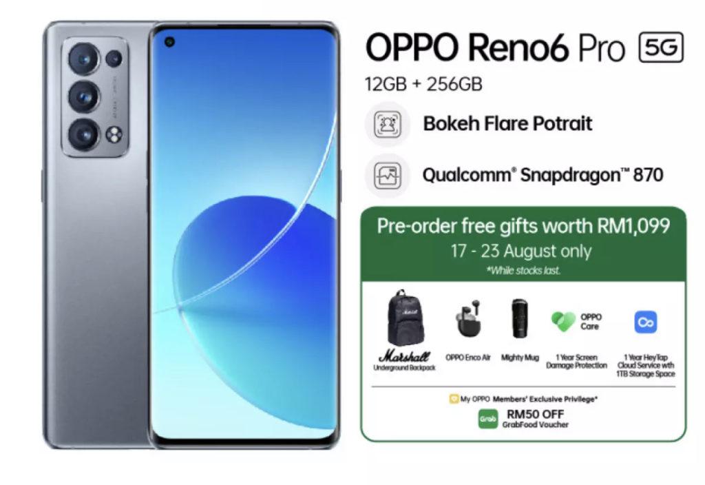 Oppo Reno6 Pro 5G kini rasmi di Malaysia dengan cip Snapdragon 870 - RM 2,999 6