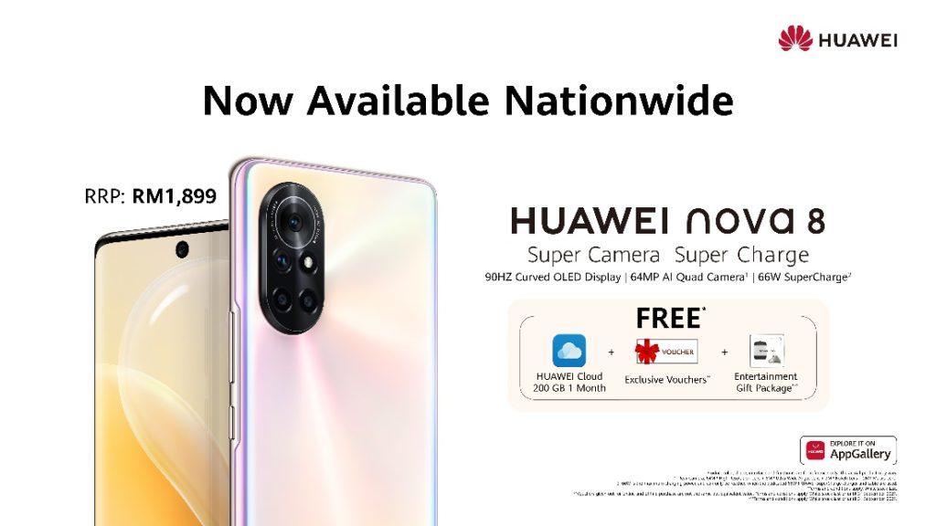 HUAWEI Nova 8 kini rasmi di Malaysia pada harga RM 1,899 13