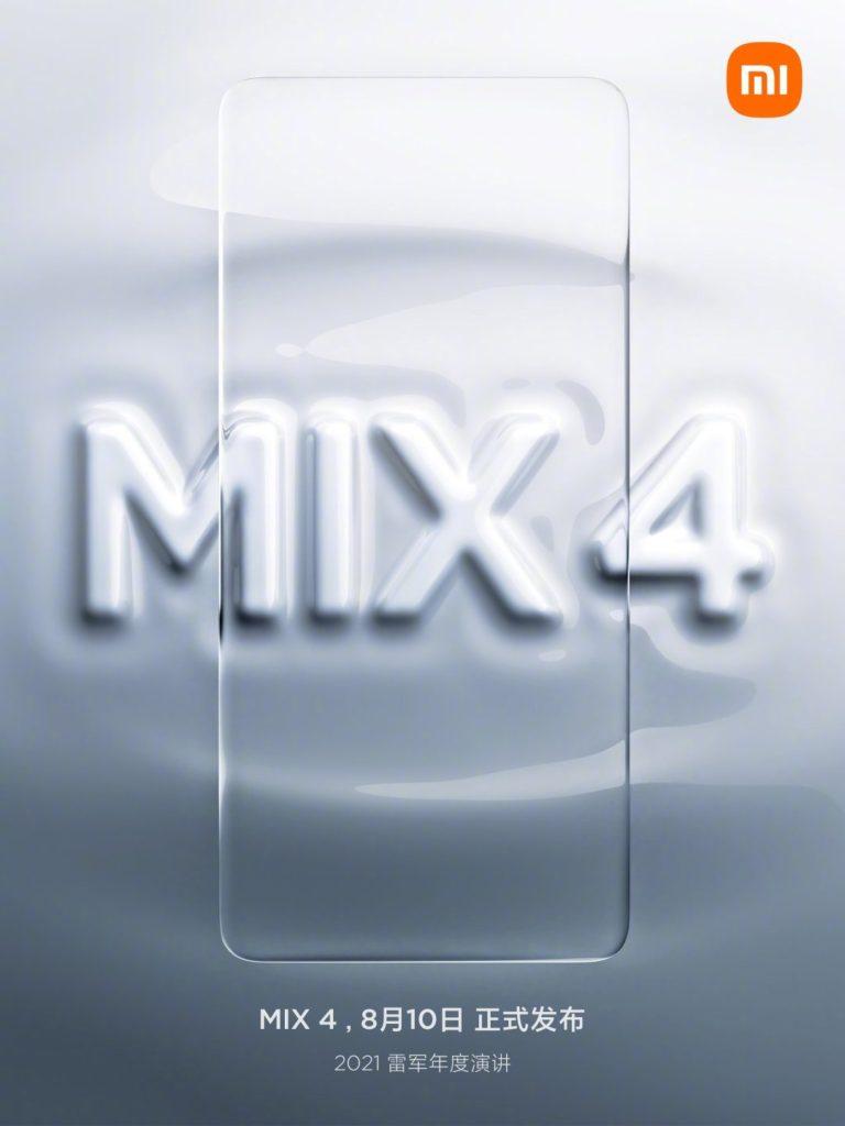 Xiaomi Mi Mix 4 akan dilancarkan pada 10 Ogos ini dengan teknologi Under Display Camera (UDC) dan Ultrawide Band (UWB) 5