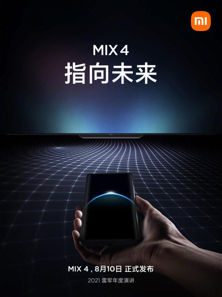 Xiaomi Mi Mix 4 akan dilancarkan pada 10 Ogos ini dengan teknologi Under Display Camera (UDC) dan Ultrawide Band (UWB) 6