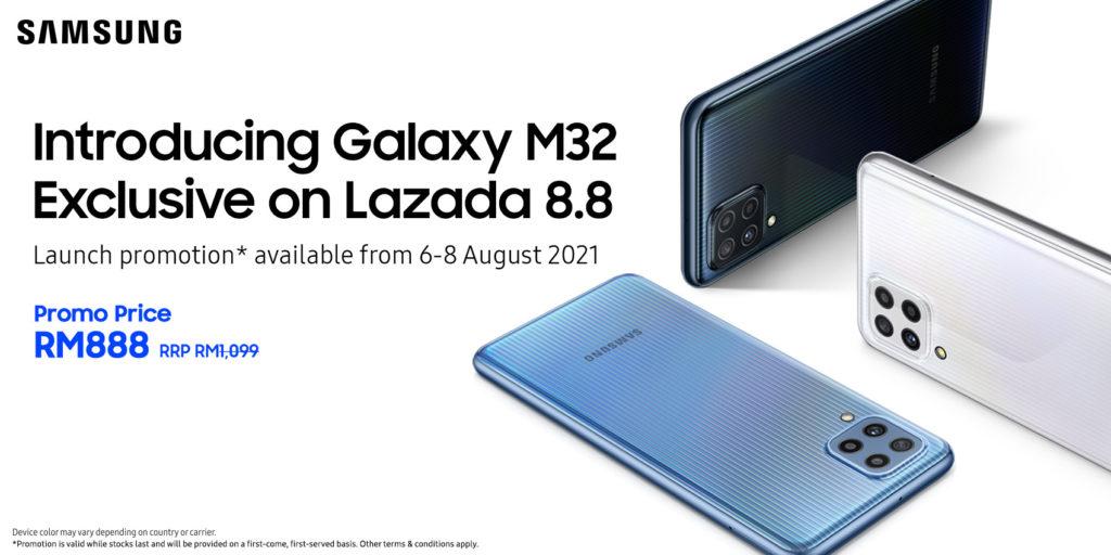 Samsung Galaxy M32 kini rasmi di Malaysia - RM 888 sahaja di Lazada pada 6-8 Ogos 7