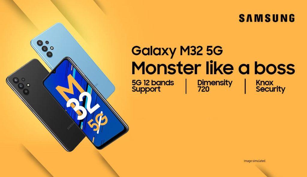 Samsung Galaxy M32 5G kini rasmi dengan cip MediaTek Dimensity 720 9