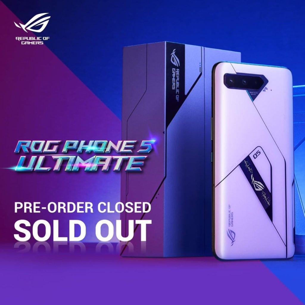 Stok Asus ROG Phone 5 Ultimate Edition habis terjual dalam masa 24 jam selepas pra-tempahan dibuka 5