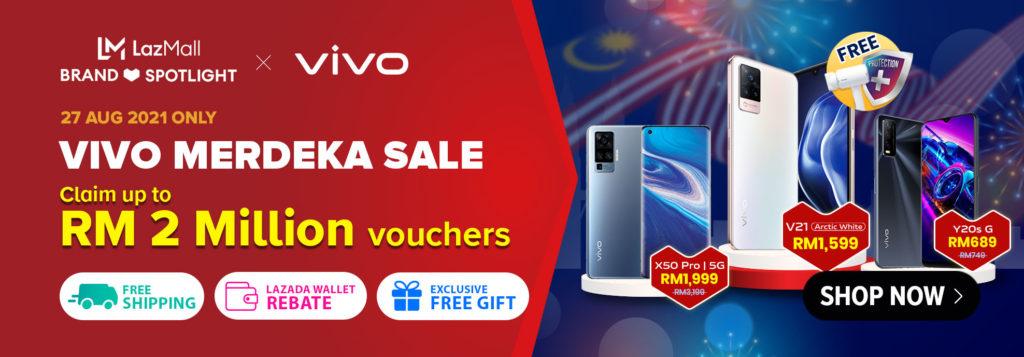 Vivo tawar diskaun bernilai RM 1,200 bagi pembelian Vivo X50 Pro di Lazada pada 27 & 28 Ogos ini 11