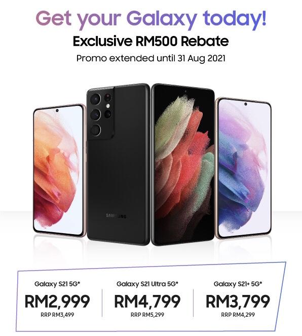 Nikmati Rebat RM 500 dengan pembelian Samsung Galaxy S21 Series - harga dari RM 2,999 sahaja 3