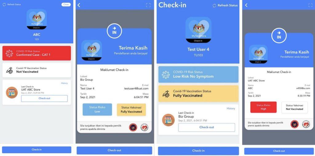 Aplikasi MySejahtera telah di kemaskini dengan paparan maklumat vaksinasi dan risiko yang lebih jelas - ciri checkout juga diperkenalkan 3