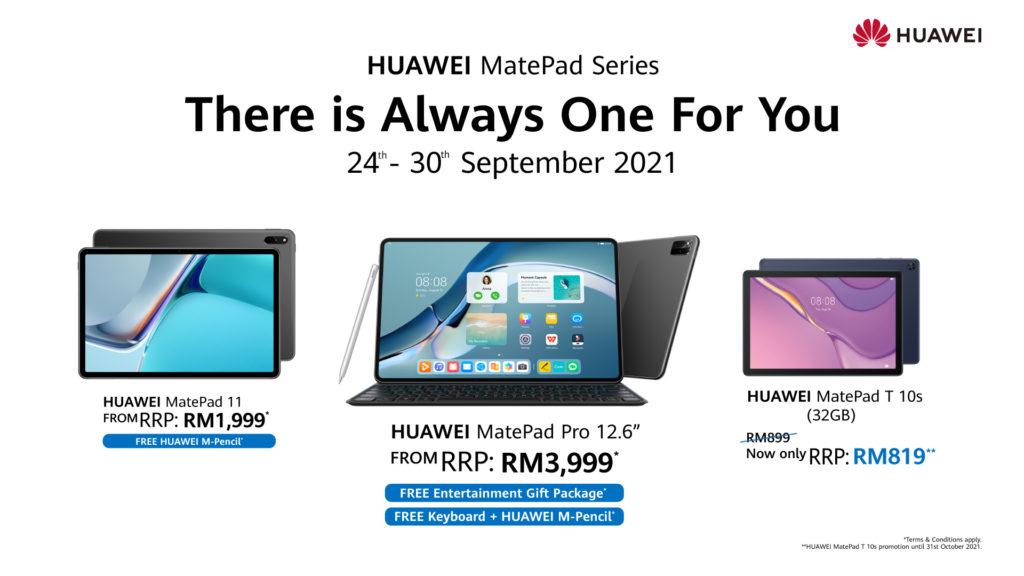 HUAWEI tawar tiga tablet terbaik dengan hadiah percuma dan harga yang lebih berpatutan - dari RM 819 3
