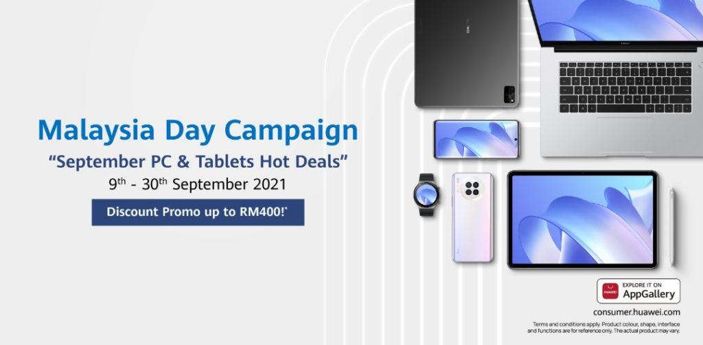 Jualan Hari Malaysia HUAWEI bakal berakhir hari ini - promosi menarik bagi MatePad Series dan MateBook Series 11