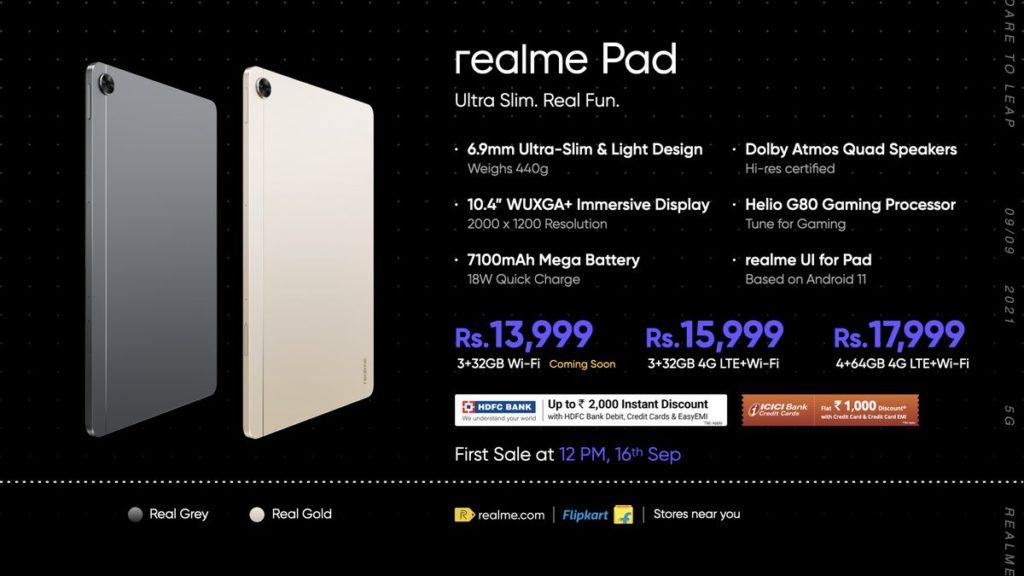realme Pad kini rasmi dengan skrin paparan IPS LCD 10.4 dan cip Helio G80 - harga dari RM 790 24