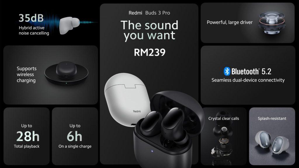 Redmi Buds 3 Pro dan Redmi Buds 3 kini rasmi di Malaysia pada harga dari RM 139 6