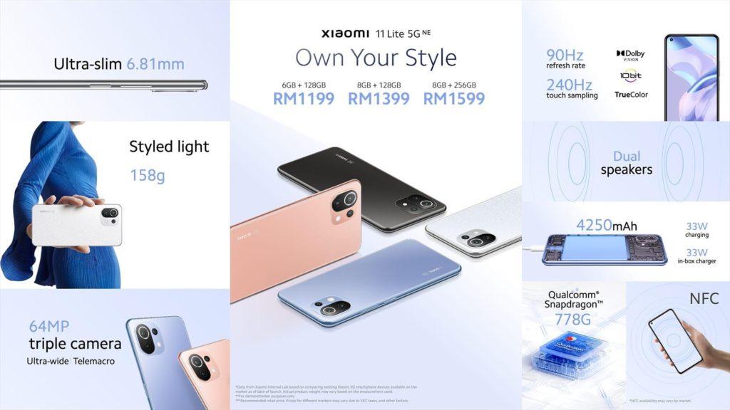 Xiaomi 11 Lite 5G NE kini rasmi di Malaysia pada harga serendah RM 1199 sahaja 5