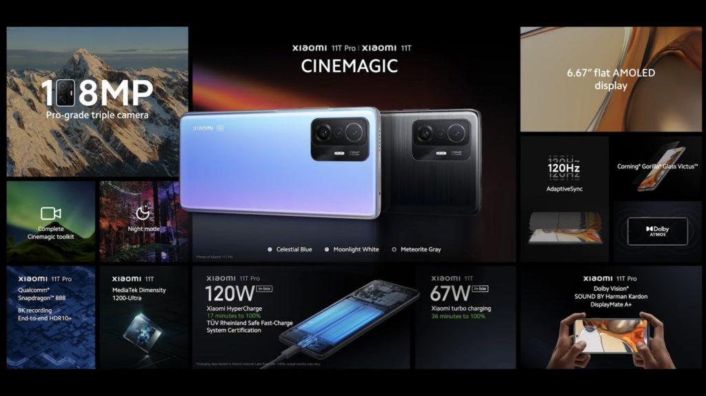 Xiaomi 11T Pro dan Xiaomi 11T kini rasmi dengan skrin paparan AMOLED 120Hz, Pengecasan HyperCharge 120W dan Snapdragon 888 20