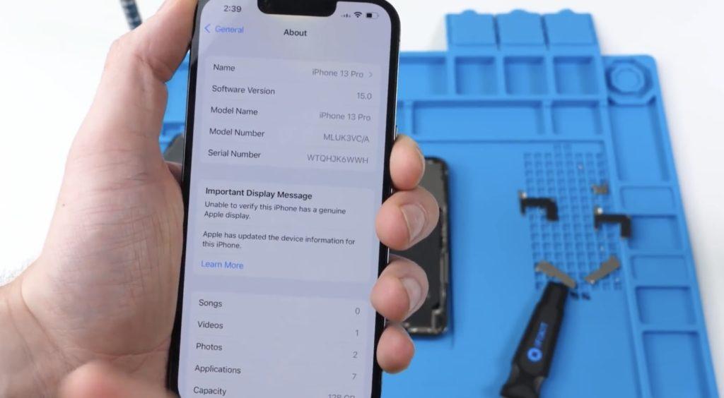 Sistem Face ID Apple iPhone 13 tidak boleh digunakan jika di gantikan dengan skrin pihak ketiga 8