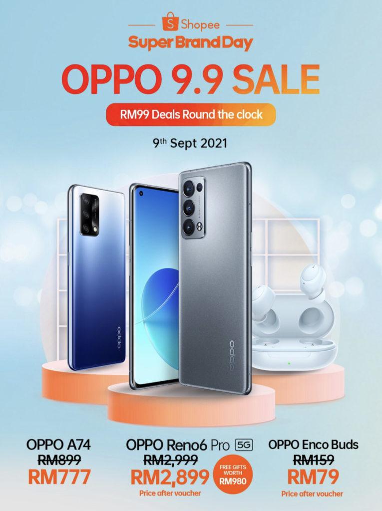 Oppo 9.9 Super Brand Day Sale akan berlangsung di Shopee - Jualan Kilat serendah RM 99 7