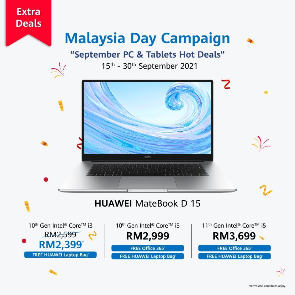Jualan Hari Malaysia HUAWEI bakal berakhir hari ini - promosi menarik bagi MatePad Series dan MateBook Series 13