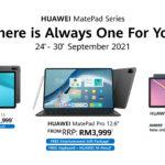 HUAWEI tawar tiga tablet terbaik dengan hadiah percuma dan harga yang lebih berpatutan – dari RM 819