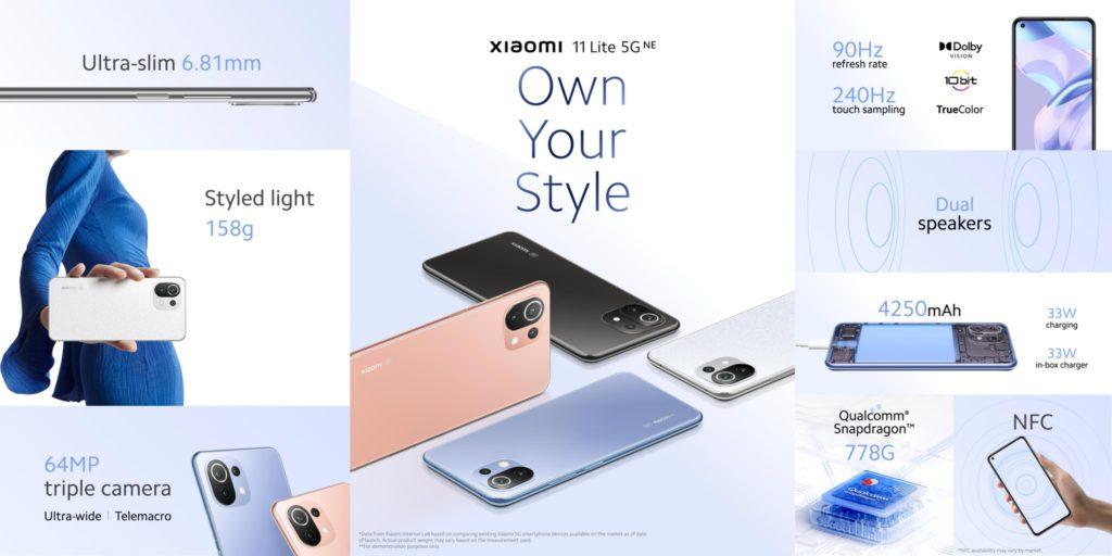 Xiaomi 11 Lite 5G NE kini rasmi dengan cip Snapdragon 778G dan skrin 90Hz 8