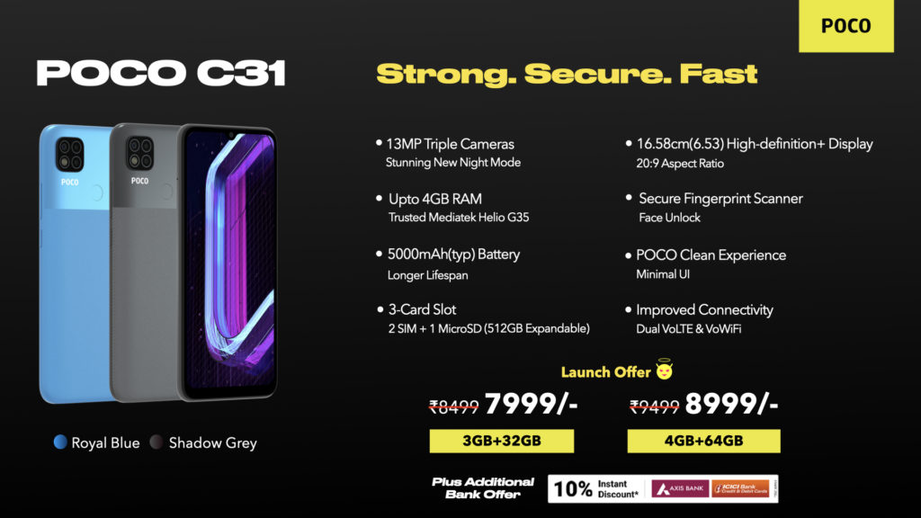 Poco C31 kini rasmi dengan Helio G35 pada harga sekitar RM 479 15