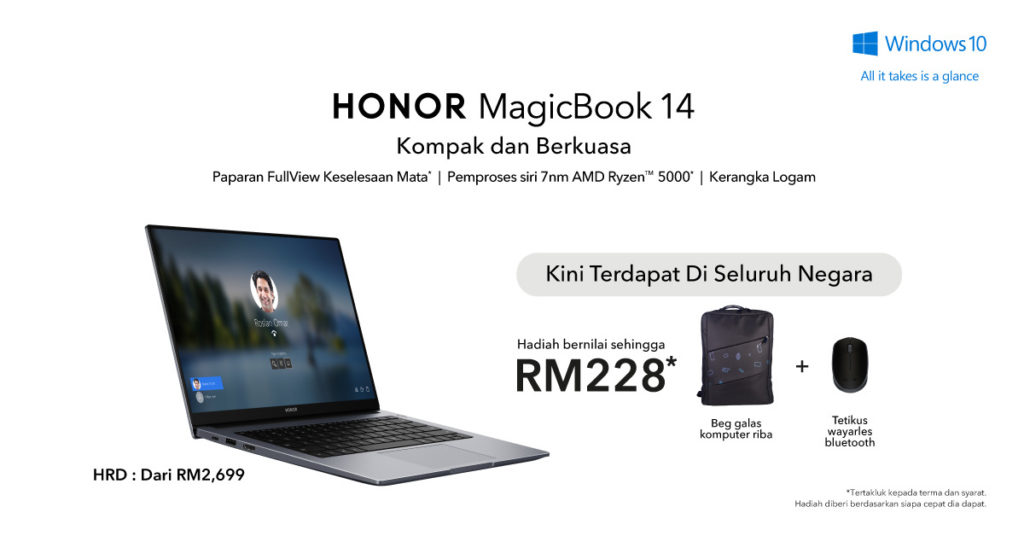 Honor MagicBook 14 kini rasmi di Malaysia pada harga dari RM 2,699 7